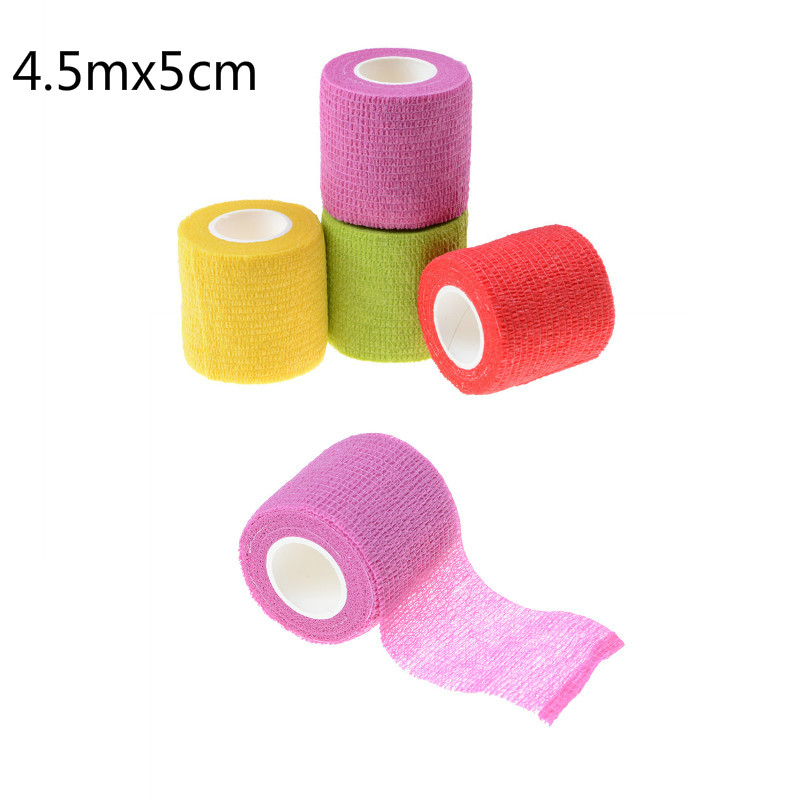 New Security Protection Waterproof Self-adhesive Cshesive Bandages Elastic Wrap First Aid Sports Body Gauze Vet Medical Tape Durable In Use Emergency Kits