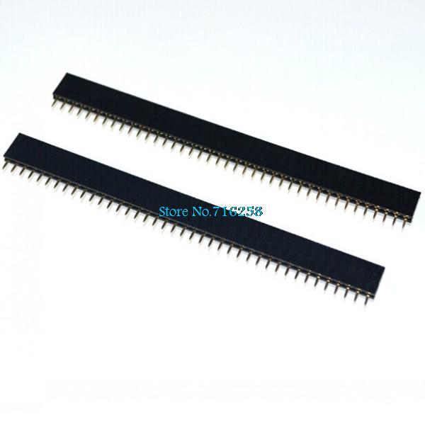 100pcs 1x40 Pin 2.54mm Single Row Female Pin Header Connector