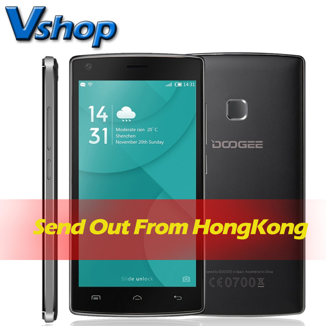 Original DOOGEE X5 MAX 3G Mobile Phone Android 6.0 1GB RAM 8G ROM MTK6580 Quad Core 4000mAh Battery Dual SIM 5.0 inch Cell Phone