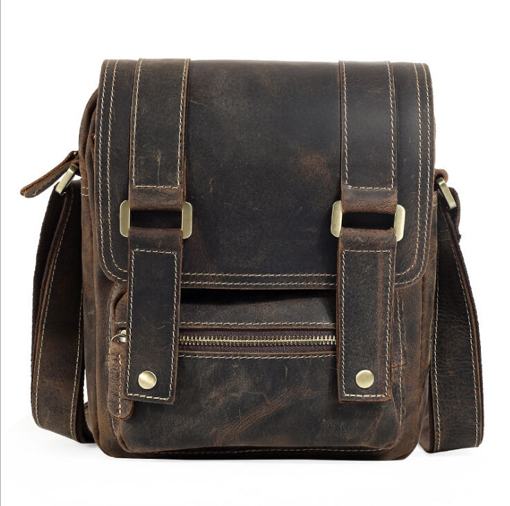 2017 new fashion design leather men Shoulder bags, men's casual business messenger bag,vintage crossbody crazy horse leather bag new casual business leather mens messenger bag hot sell famous brand design leather men bag vintage fashion mens cross body bag