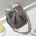 National Style Tassle Hand-woven Women Shoulder Messenger Bags Vintage Cotton Handbags Small Bucket Crossbody Bag Female Bolsas