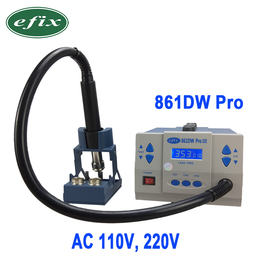 efix 861DW Pro Hot Air Rework SMD Soldering Stations AC 110V 220V 1000W Heat Gun Fix Phone iPhone Repair BGA Chip IC Tools Kit 220v multifunction 3 in 1 soldering rework station iron heating hot air gun bga ic chip for iphone motherboard repair