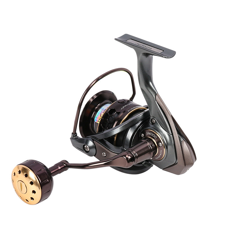 Free Shipping High Quality Jaguar 4000 Spinning Fishing Reel Double Metal Handle 2 Spool Reels Coil Lure 9+1BB Gear Ratio 5.2:1 coonor j12 9 1bb metal spool fishing reel 5 1 1 gear ratio spinning reel full metal spool with double t shape handles