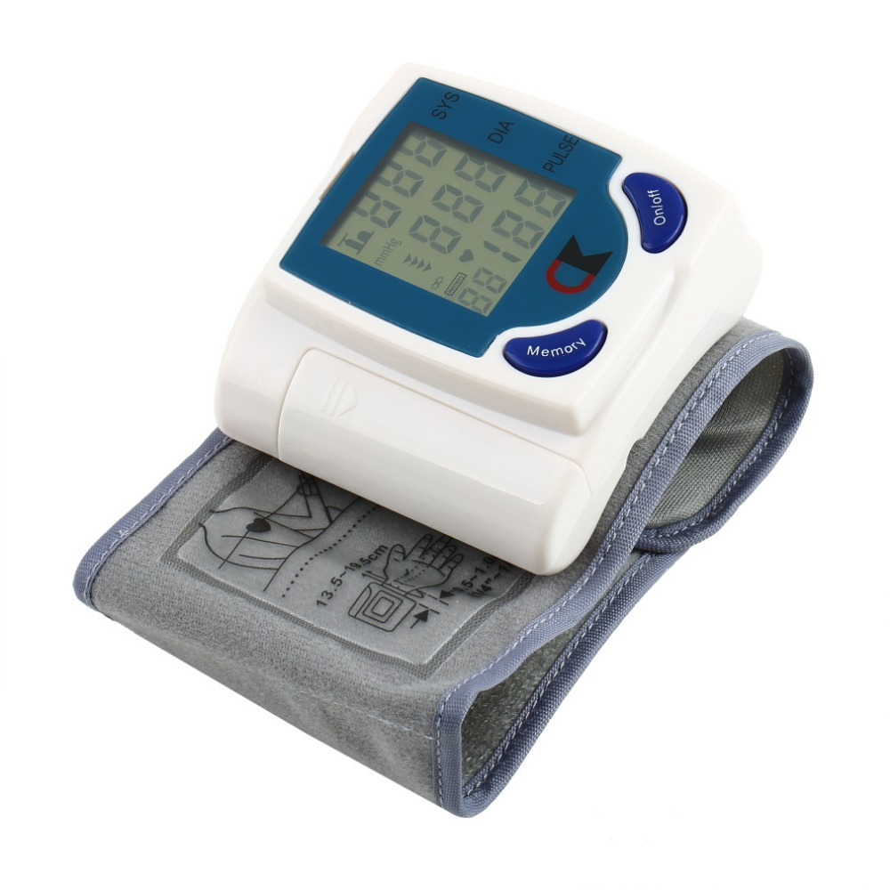 Digital LCD Wrist Cuff Arm Blood Pressure Monitors Heart Beat Rate Pulse Measure Meter Sphygmomanometer Health Care Machine /></noscript></a><br /> <em></p> <div itemprop=