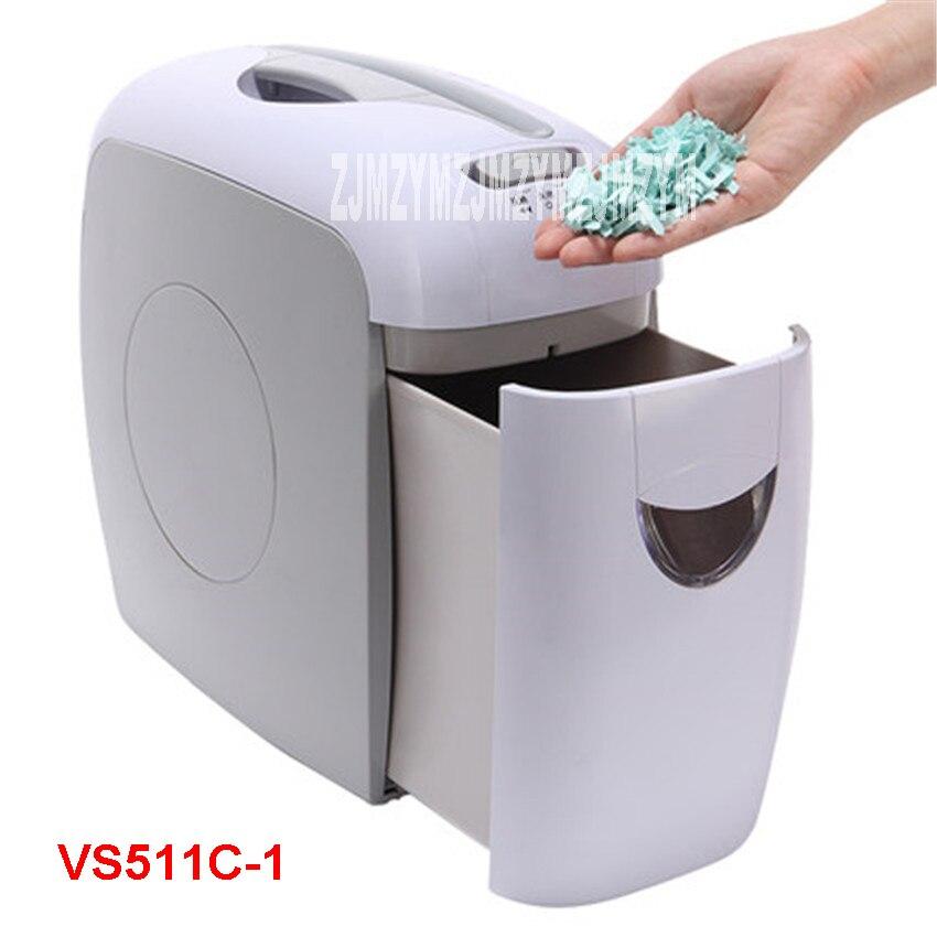 купить VS511C-1 7.5L Mini Electric Paper Shredder Paper Broken mute pulverizer family 220V/50hz Shredding Size 4*38MM 5 sheets / time по цене 3871.1 рублей