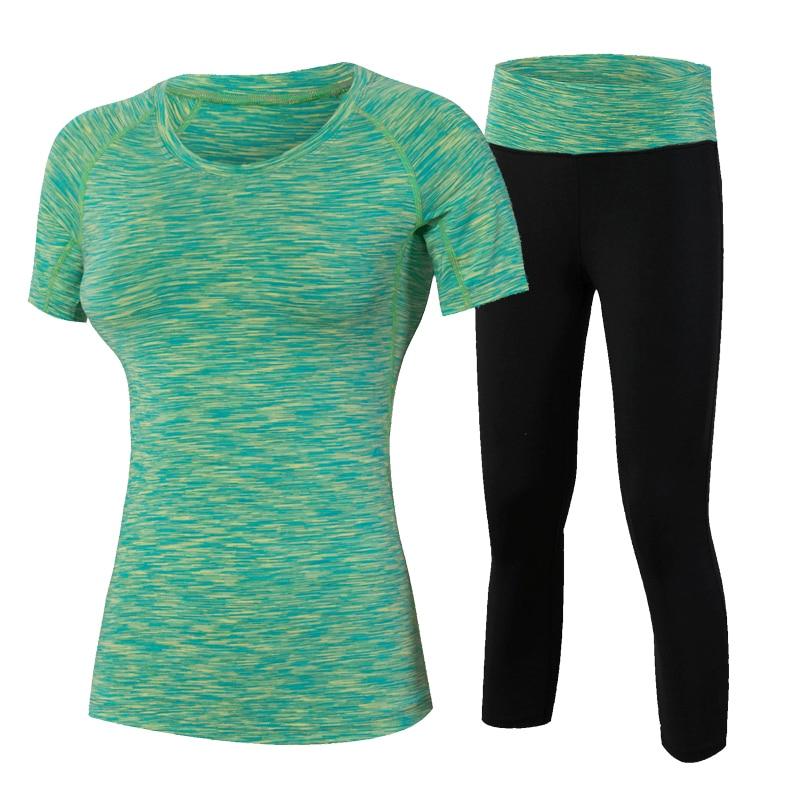 YD 2Pcs Yoqa Yeni Fitness Qadın Wick Workout İdman İdman Geyimi - İdman geyimləri və aksesuarları - Fotoqrafiya 3