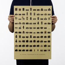 Камера ностальгия декоративная оберточная бумага в винтажном стиле постер фильма журнал дом Школа Офис Декор Искусство ретро-плакаты и принты