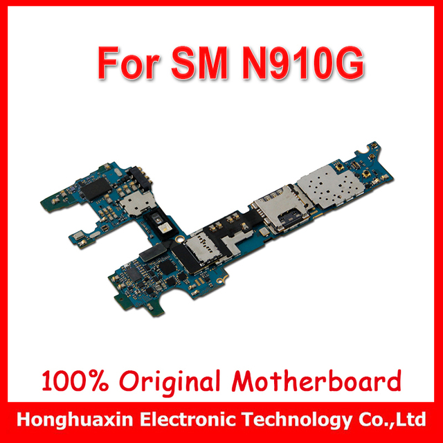 US $36 9 |32gb original motherboard for Samsung Galaxy NOTE 4 N910G  unlocked mainboard Europe version Android logic board-in Mobile Phone Flex  Cables