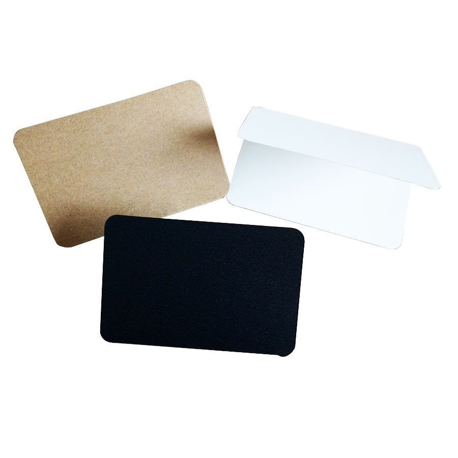 10 Pcs/lot Students DIY Blank Postcards Vintage Blank Series Kraft Paper DIY Greeting Card Brown White Black Gift Card