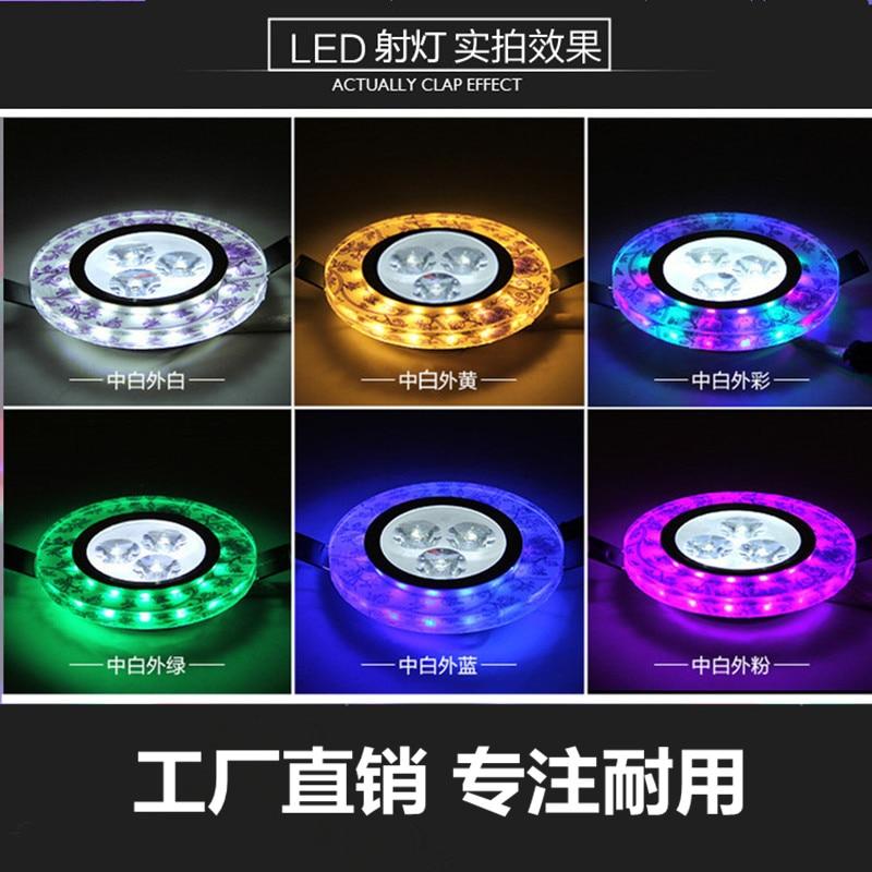 High Quality Crystal LED 3W Led Downlight 300lm Spot Lights Mini Down Lamp Bedroom Lighting AC110V-220V