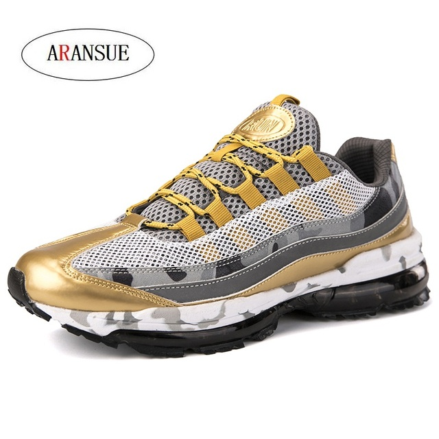 ARANSUE New Men's Leisure sneakers in Spring Breathable fashionable light men's training shoes Shockproof walking shoes