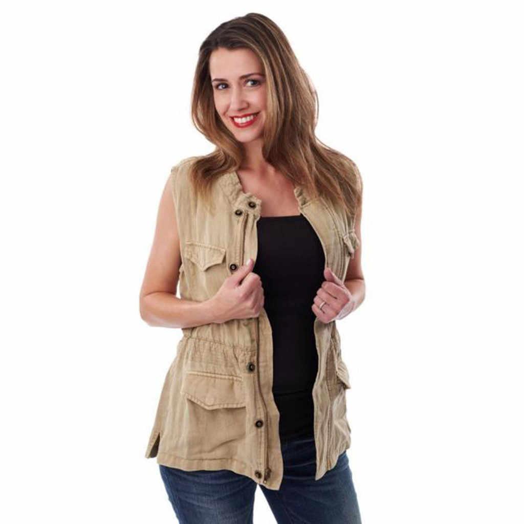 ファッション妊娠中の女性のノースリーブカンガルーママポケット 2019 夏レジャートップス授乳 Tシャツブラウス # D1