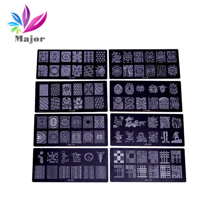 Online Shop 1Pc JR Nail Stamping Plates Stainless Steel Image Konad ...