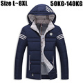 6XL 7XL 8XL Thick Winter Jacket Men 2016 Brand-Clothing Men's Warm Down Parka Jacket Outerwear Coats Windbreaker Men DJ020