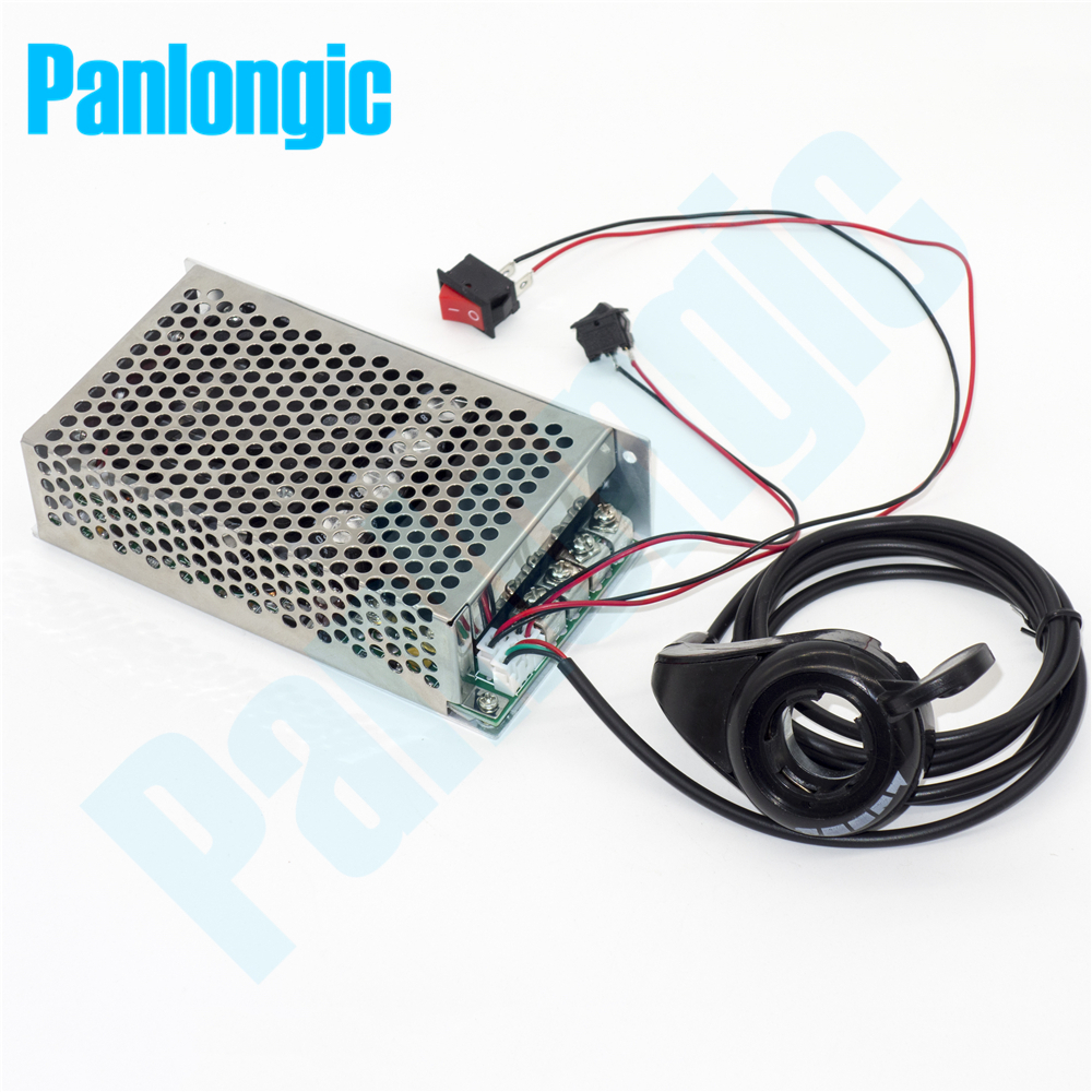 Panlongic Thumb Hall Throttle 100A 5000W Reversible PWM DC Motor Speed Controller 12V 24V 36V 48V Soft Start Thumb Accelerator