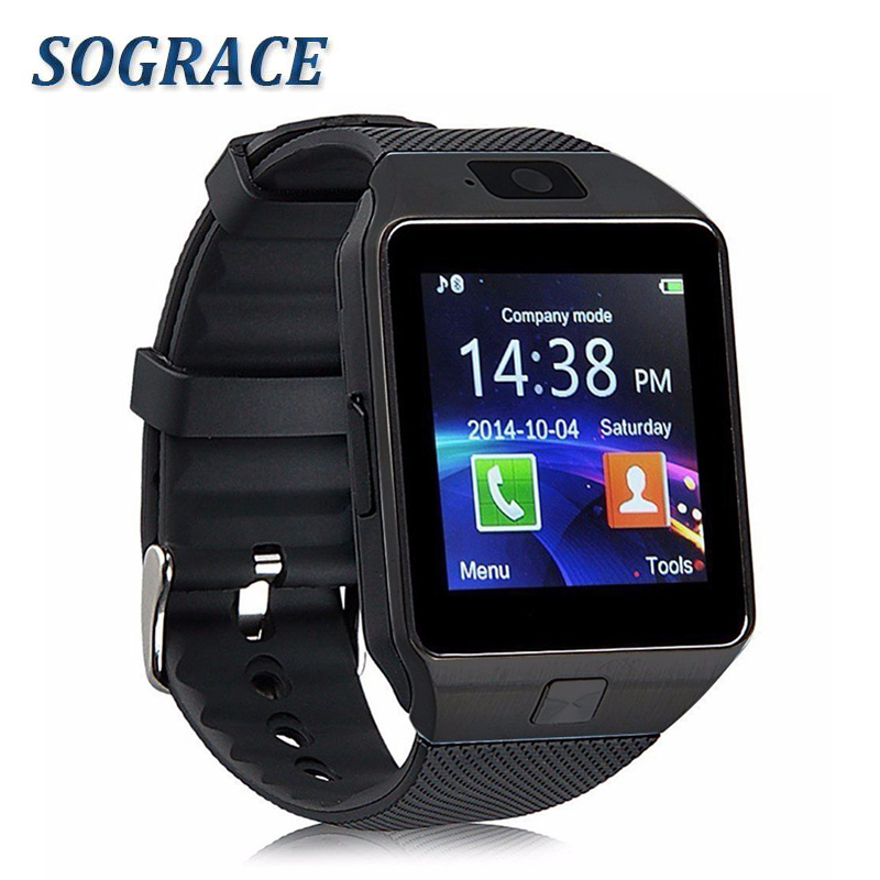 Sograce DZ09 Relogio Wrist Watch Cell Phone Alarm Clock Camera Pedometer Touch Screen Smart Watch Waterproof Android Watch 2017 the new pixracer and hight quality black pixracer autopilot xracer fmu v4 px4 flight control mini version light