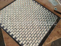 Silver mirrored subway tiles diamond glass mosaic tiles wallpaper