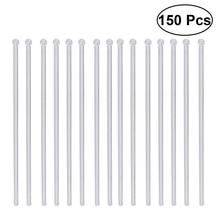 150 шт прозрачные палочки для коктейлей и напитков, пластиковые палочки для перемешивания с круглой головкой