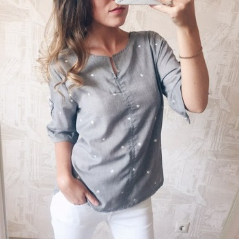 Plus Size Women Casual Blouse