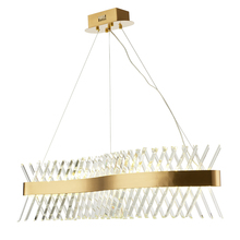Postmodern minimalist creative personality led chandelier hotel restaurant long crystal lighting Fixture