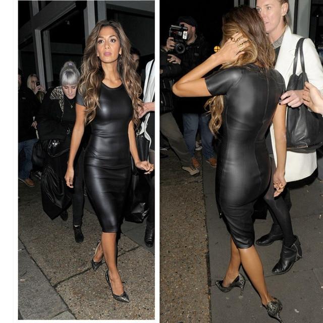 Black Leather Dresses for Women