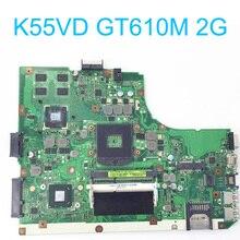 K55VD материнская плата для ASUS K55 K55V Intel ноутбук s989 HM76 60-N8DMB1701-B04 2 ГБ Rev 3,0