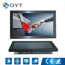 """15.6""""Embedded All in one pc with intel C1037U 1.8GHz 4USB/2RS232/WIFI industrial computer Resistive touch screen 1366×768"""