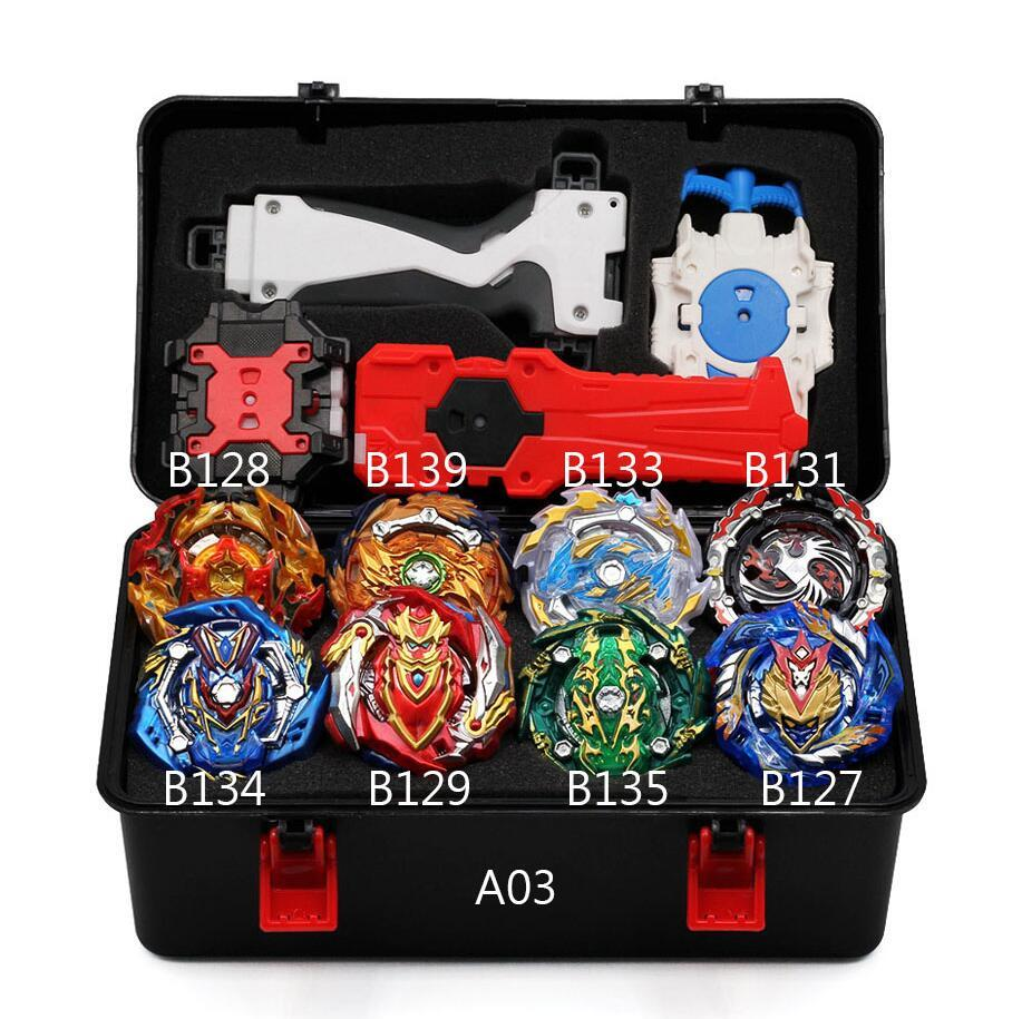 <font><b>Beyblade</b></font> <font><b>Burst</b></font> <font><b>B139</b></font> B134 B131 Metal Fusion 4d With 4 Launcher Bayblade <font><b>Burst</b></font> Spinning Top Christmas Gift For Kids Toys image