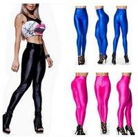 Livraison gratuite 2015 nouvelle vente chaude d'arrivée souple respirant mode régulier spandex lycra couleur de bonbons leggings femmes ultra élastique