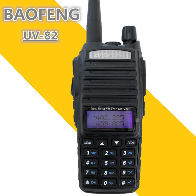 10KM BAOFENG UV 82 PTT Portable Transceiver Radio uhf vhf Dual CB Radio 8W Walkie Talkie Communicador VOX FM Intercom UV82 UV 82