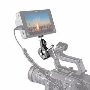 Image 5 - Petit support à pince pour appareil photo DSLR avec adaptateur pour chaussures chaudes à tête sphérique pour Gopro, caméra, fixation pour moniteur 1124