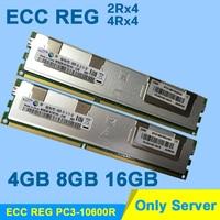 For HP Dell Hynix DDR3 4GB 8GB 16GB DDR3 1333MHz PC3 10600R 2Rx4 ECC REG RDIMM