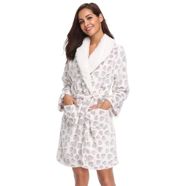 Women Teddy Fleece Robe Bridesmaid Bathrobe Home Clothes Kimono Sleepwear  Dressing Gowns Bride Bath Robe For 747a7b5e8