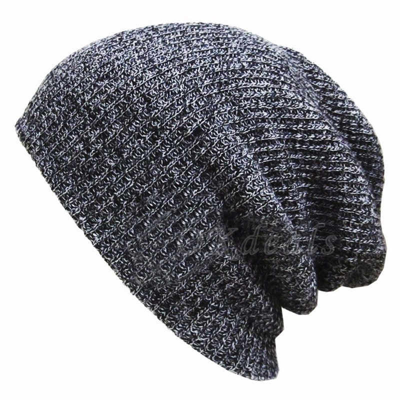 6bbebfd4a1a New Hot Unisex Autumn Winter Male Hats Striped Knitted Beanies Cap Man S  Women Hip-Hop