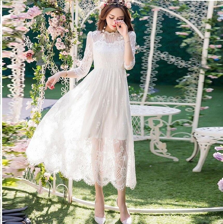 Summer Women plus size elegant lace long dress empire ball gown Dress empire cultivating party Dress beautiful vestidoXXXXL98582