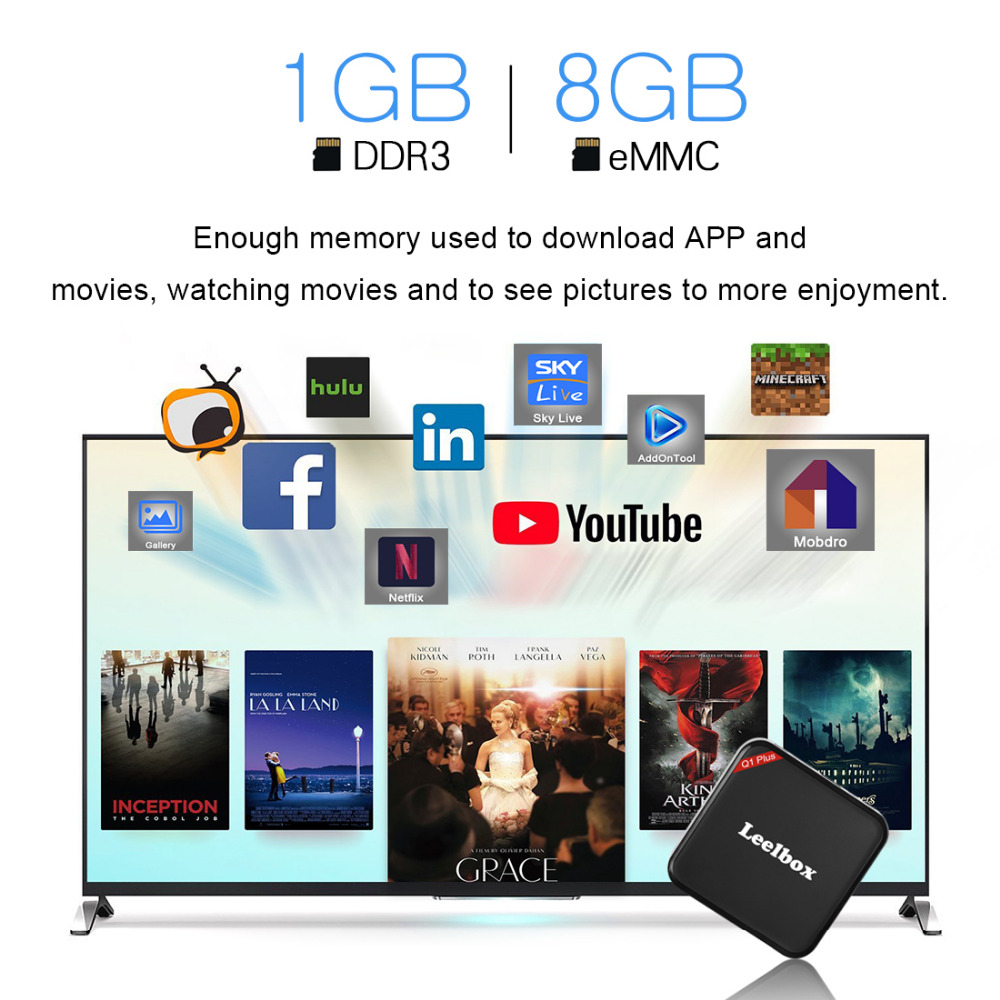 US $129 15 5% OFF|HAOSIHD Brothers Leelbox Q1 PLUS TV BOX Android 7 1 iptv  free adult italy arabic indian turkey Install fire IPTV See 2500 channl-in