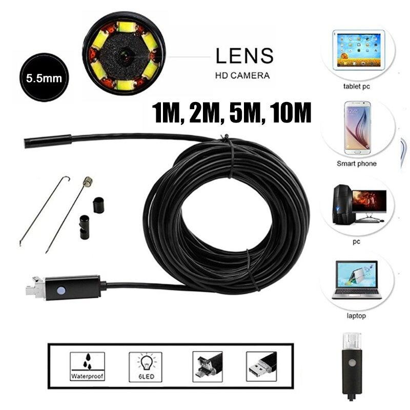 Werkzeuge Aktiv 5,5mm 2 In 1 Überwachung Inspektion Ohr Löffel Endoskop Handheld Endoskop Handys Endoskop Praktische Echtzeit Video