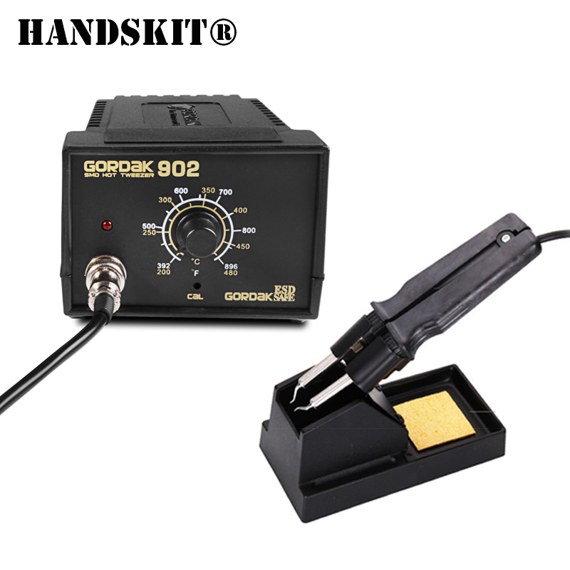 110V 220V 75w SMD Tweezers Soldering Station Iron 902 ESD Anti static Adjustable Temperature Control Thermostat