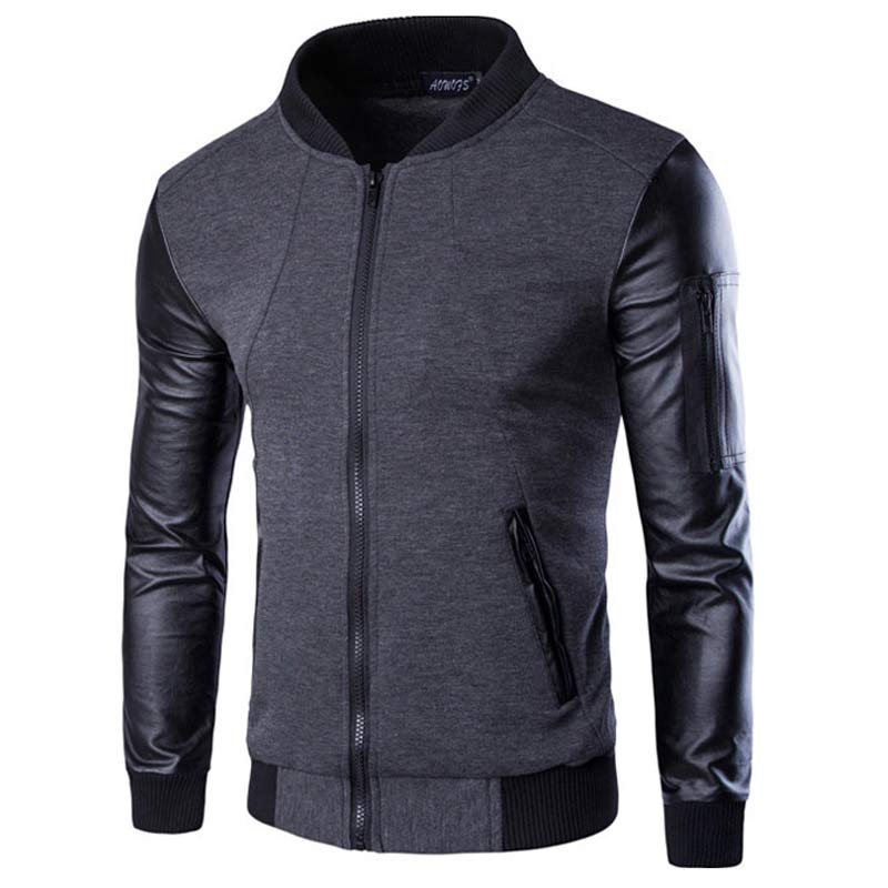 Aliexpress.com : Buy New Black Bomber Jacket Men Veste Blouson ...