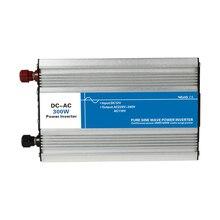 Potencia 300 W de Entrada de CC 12 V 24 V 48 V Salida de CA 110 V 220 V de Onda Sinusoidal pura Inversor de Conexión a Red solar personalizada Pantalla LED vatios voltios