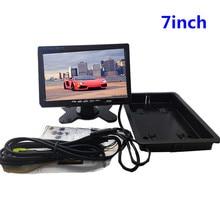 7-polegadas Car Display LCD TFT a Cores de Tela Do Monitor de Segurança Monitor Do Carro Invertendo Exibição para a Câmera Reversa Do Carro DVD