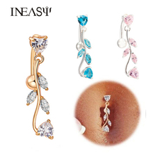 2017 New Multi Style Navel Piercing Stainless Steel Belly Button Body Jewelry Navel Piercings Umbilical Medical Steel Navel Nail 60 pcs lot high quality medical steel crystal rhinestone belly button ring dangle navel body jewelry piercings tassel