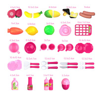 40pcs Set Cooking Toy Pink Kitchen Food Cooking Role Play Pretend Toy Girls Baby Children Birthday