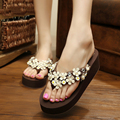 Wedge Slippers Women Sandals Ladies Shoes Flower Indoor Outdoor Plaform Sandals Slippers Sandalias Mujer Brown