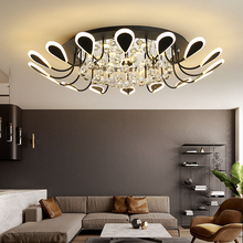 Living Room Lamp Postmodern Minimalist Crystal Lights Hall Lobby Ceiling Lighting Creative Nordic Bedroom Ceiling Lamp led Light modern minimalist golden led circular living room crystal lamp creative lamps atmospheric luxury hall ceiling lighting fixture