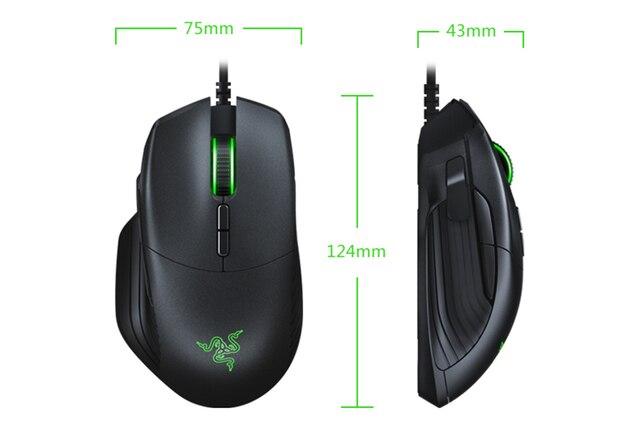 Razer Basilisk Gaming Mouse 64000/16000 DPI 5G Optical Sensor Chroma RGB FPS Customizable Scroll Wheel Resistance  Wired Mouse 6