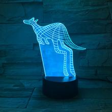 Animal kangaroo Led Night Light Touch Sensor 7 Color Changing Decorative Lamp Child Kids Baby Kit Nightlight 3D