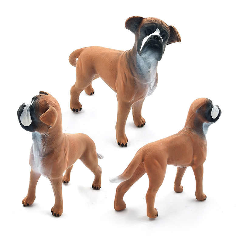 Farm poultry Simulation Collie dog small animals model figure figurine plastic set toys statue home decor Gift For Children Kids