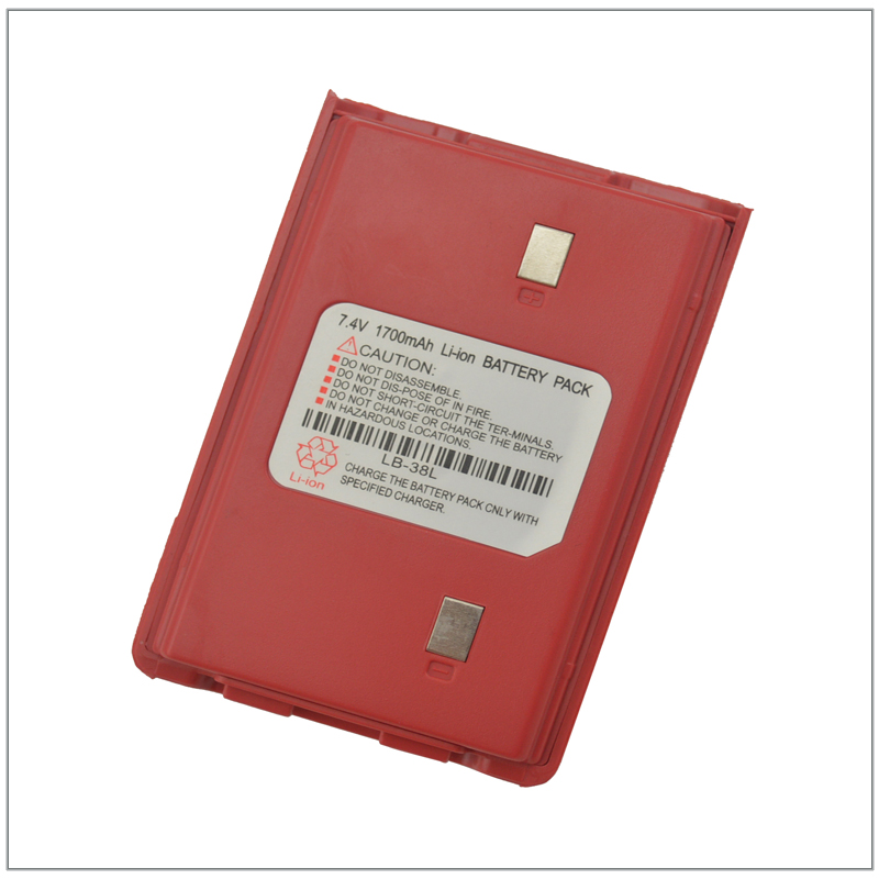 Color Red 1700mAh 7.4V Li-ion Battery Pack For 3022 136-260MHZ FM Walkie Talkie