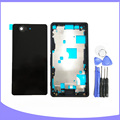 Original for Sony Xperia Z3 Mini Compact M55W D5803 D5833 full housing back case door battery cover + front plate / faceplate